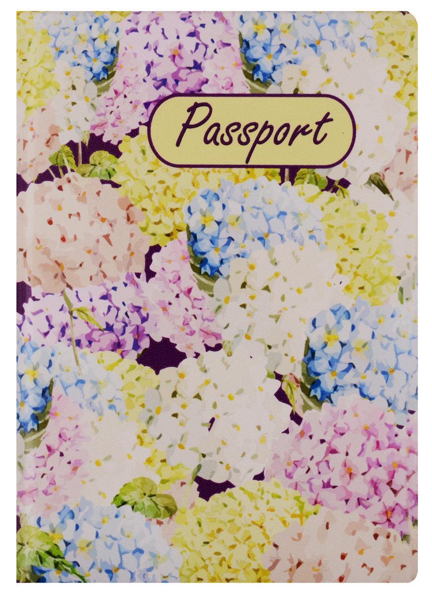 Обложка для паспорта Гортензии
