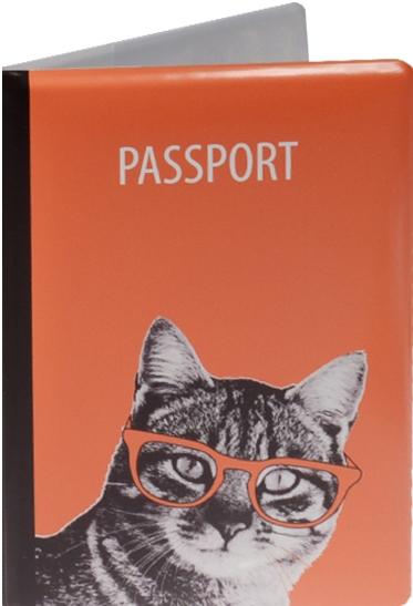 """Обложка для паспорта """"Кошка в очках"""""""