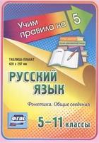 Русский язык. Фонетика. Общие сведения. 5-11 классы. Таблица-плакат