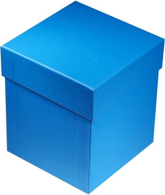 """Коробка подарочная """"Неон голубая"""" 10*10*11см"""