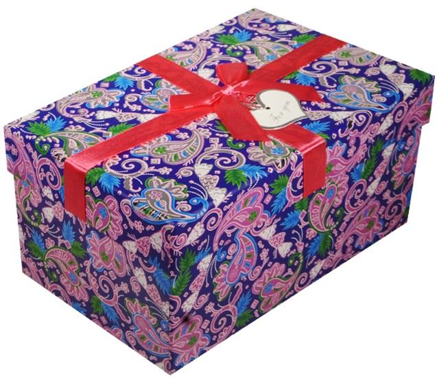 """Коробка подарочная """"Синие огурцы"""", 22*15*11,5см"""