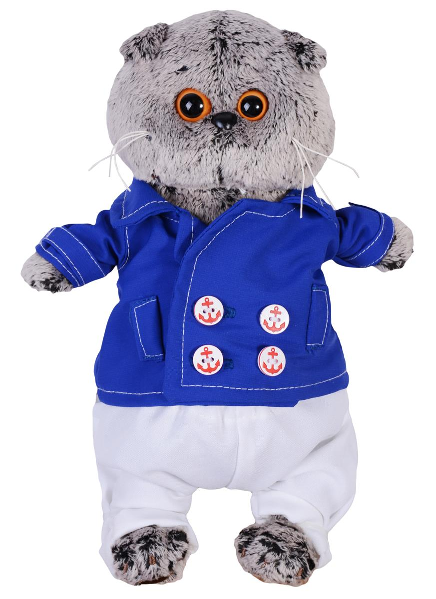 Мягкая игрушка Басик в синем кителе (19 см)