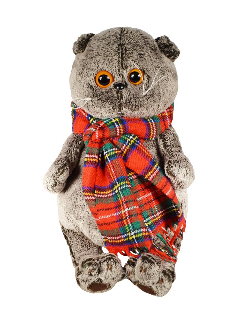 Мягкая игрушка Басик и красный шарф в клеточку (30 см) (Ks30-017) (Буди Баса)