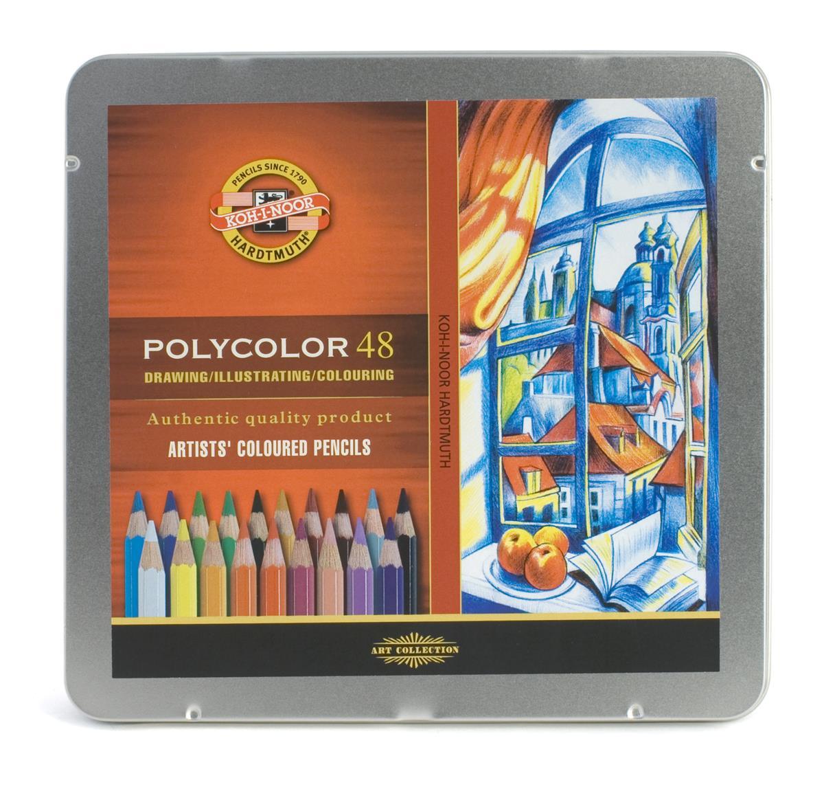 """Карандаши цветные """"Polycolor"""", 48 цв., Koh-I-Noor"""
