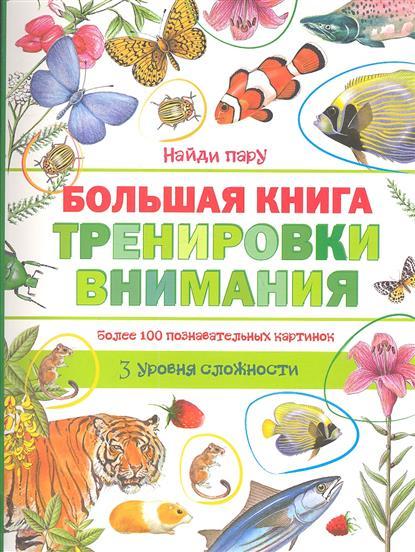 Большая книга тренировки внимания. Более 100 познавательных картинок. 3 уровня сложности