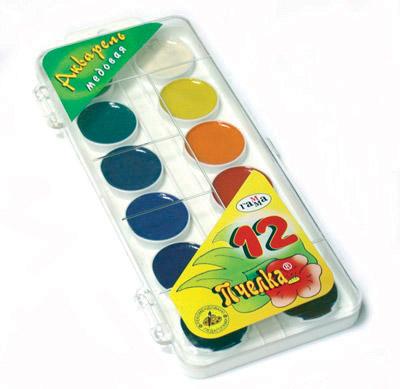 Краски акварельные 12цв