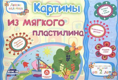 Картины из мягкого пластилина. Учебное пособие для детей дошкольного возраста. Сборник развивающих заданий