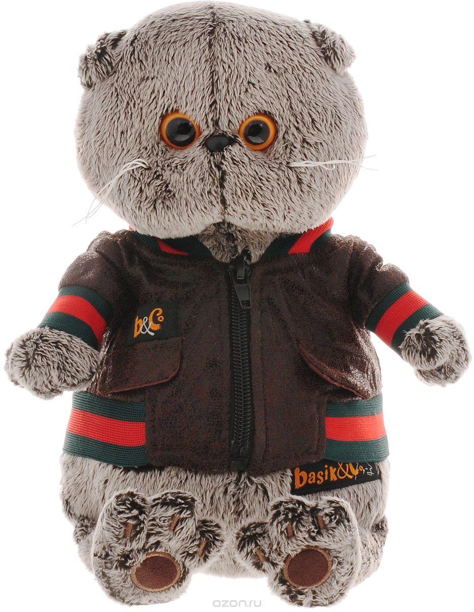 Мягкая игрушка Басик в кожаной куртке (19 см)