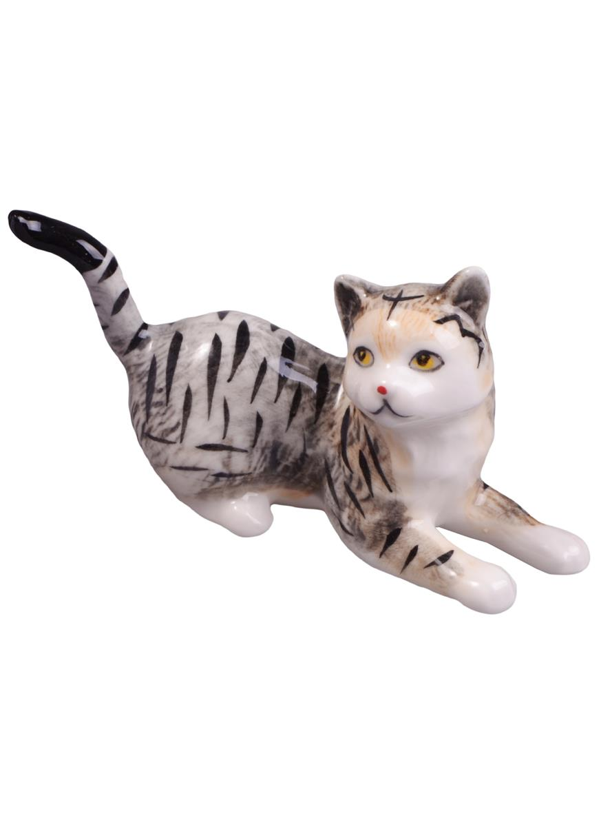 Фигурка Кошка (8см) (фарфор)