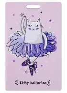 Чехол для карточек Kitty ballerina персиковый