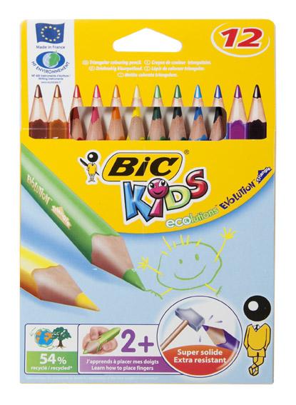 """Карандаши цветные 12 цветов """"ECOlution Evolution Triangle"""""""