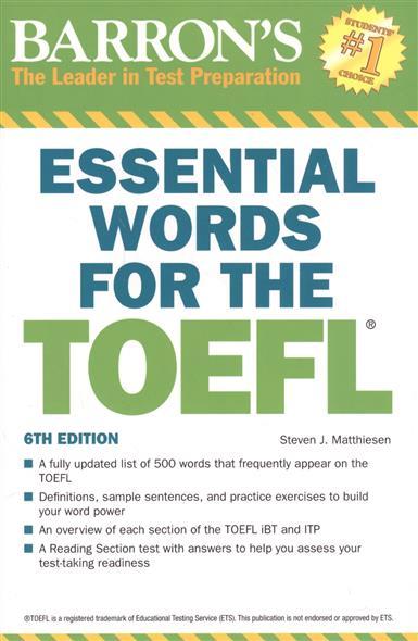 Matthiesen S. Barron's Essential Words for the TOEFL pamela j sharpe stephen j matthiesen toefl ibt superpack