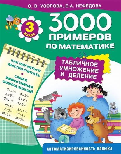 3000 примеров по математике. Табличное умножение и деление. 3 класс. Как научиться быстро считать. Самая эффективная оценка знаний. Автоматизированность навыка