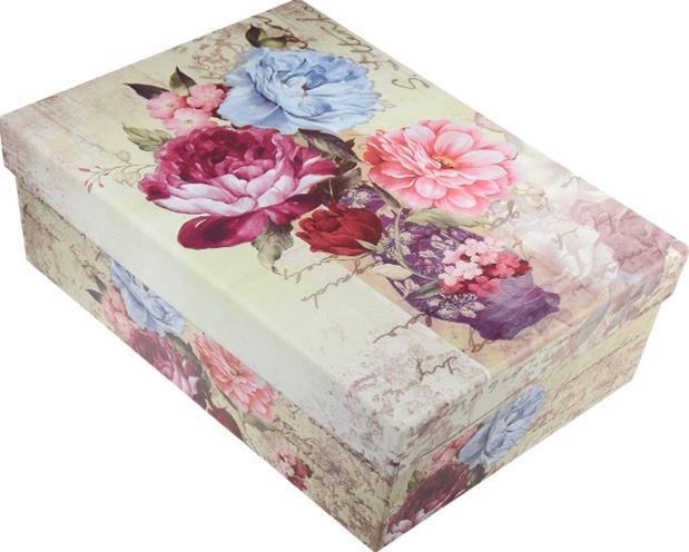 """Коробка подарочная """"Букет в вазе"""" 22*15,5*8см"""