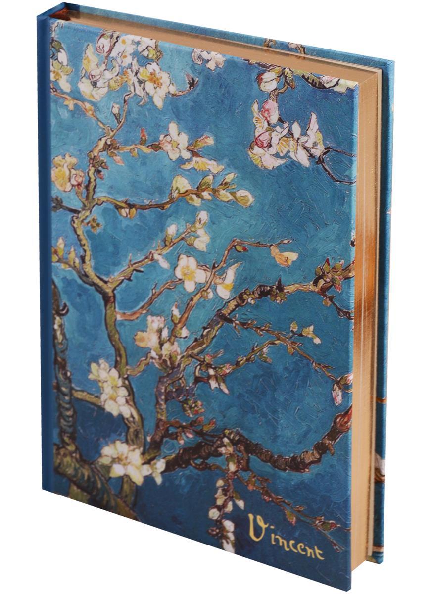Блокнот Ван Гог Цветущие ветки миндаля (золотой обрез)