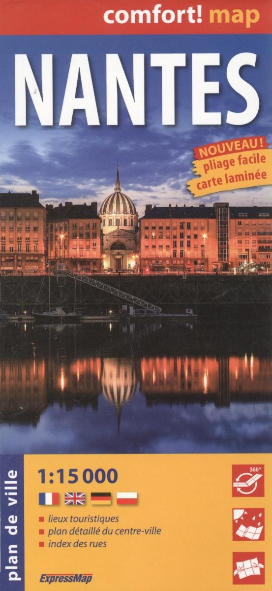Nantes = Нант. Ламинированная карта. 1:15 000 ISBN: 9788375465648 дрезден карта ламинированная 1 15 000