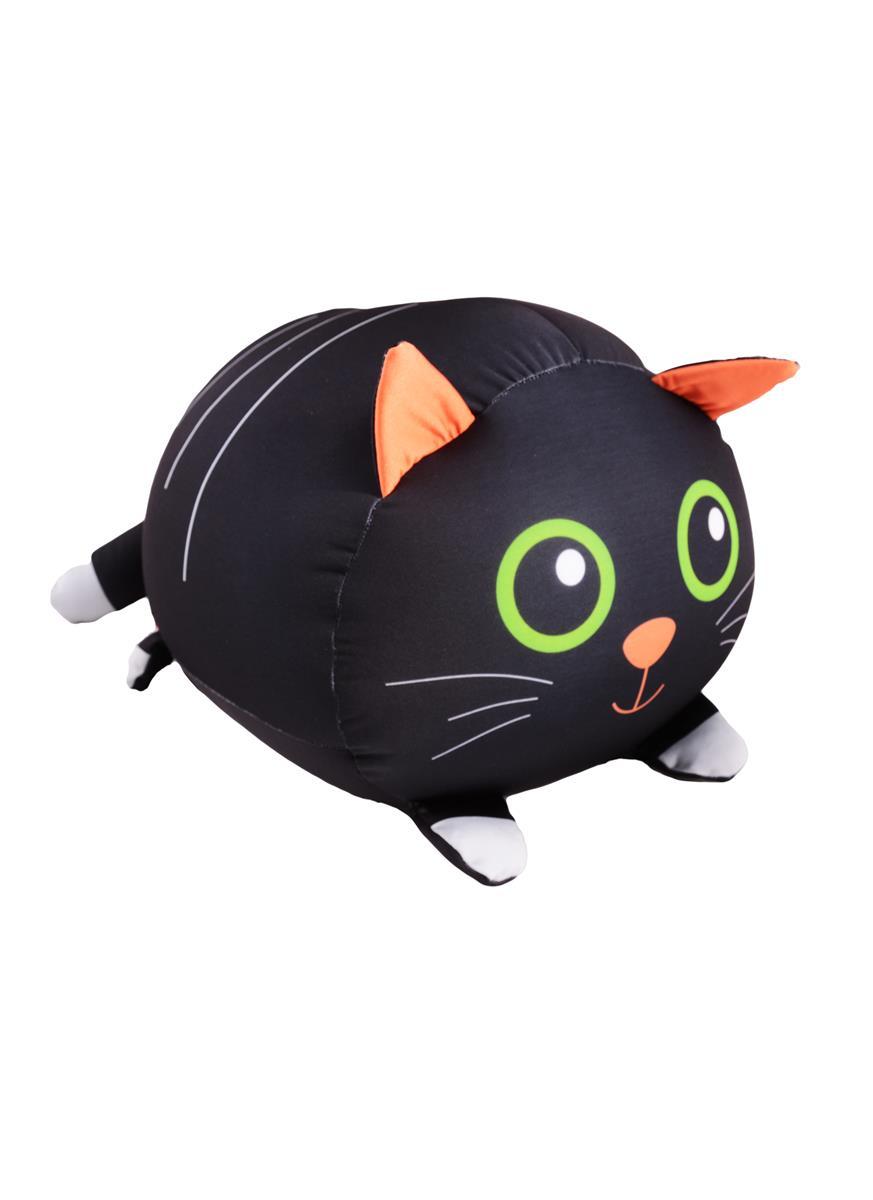 Игрушка-антистресс Котик черный лежит (35х30)