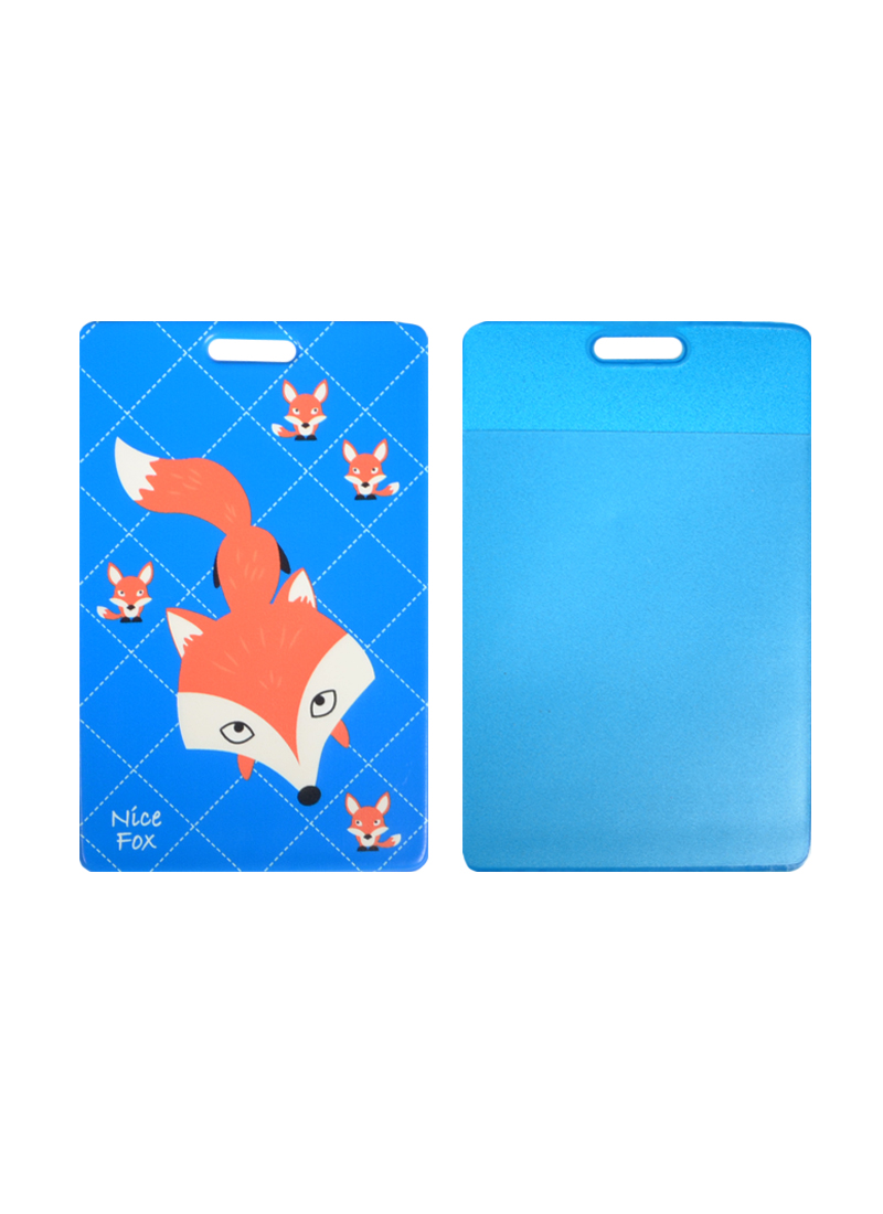 Чехол для карточек Лиса на синем фоне (ДК2015-029)