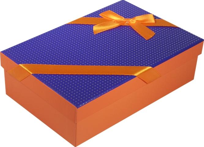 """Коробка подарочная """"Неон"""" фиолетовая 18*11*5см"""