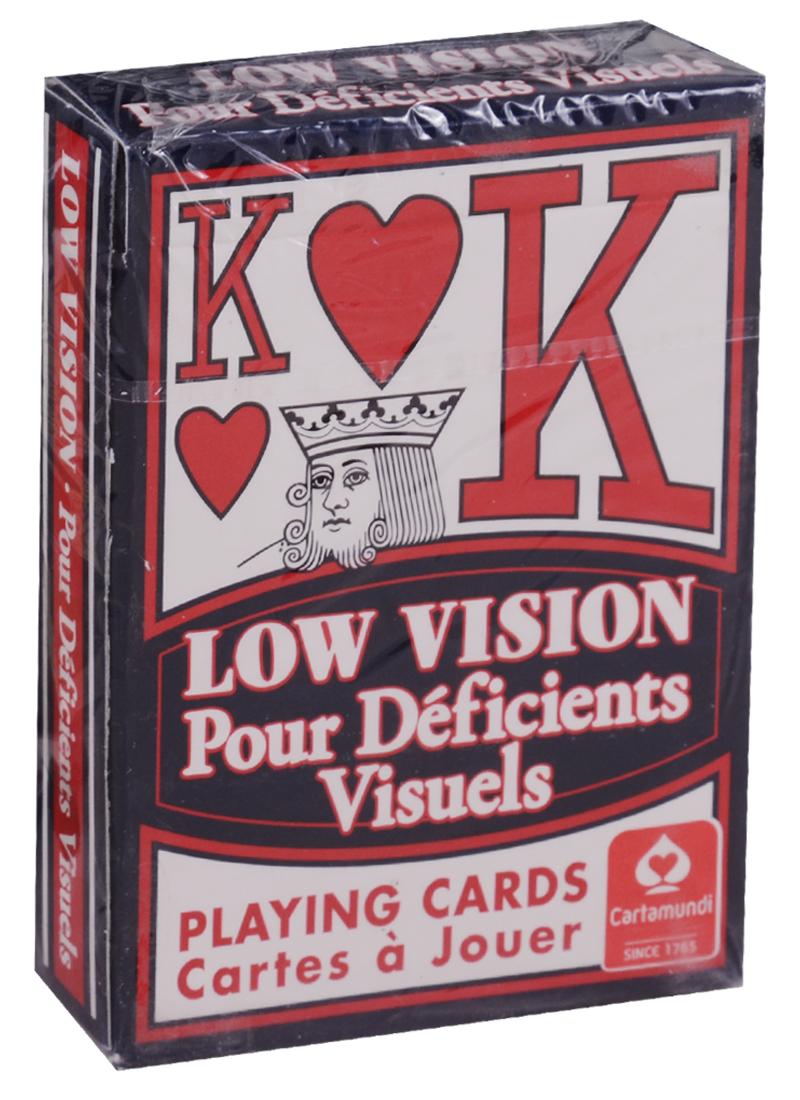 Low Vision / Игральные карты (карты + инструкция на английском языке) ISBN: 9780880794466 магия цветочной терапии 44 карты инструкция