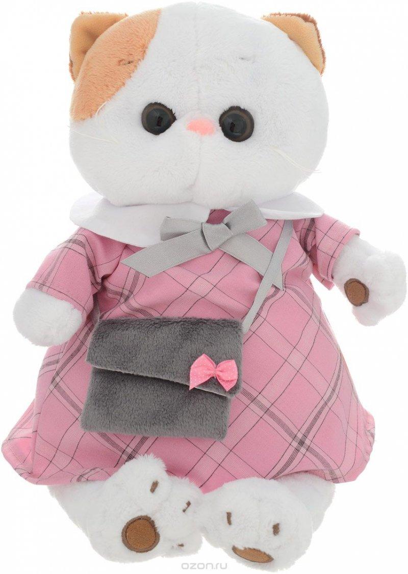 Мягкая игрушка Ли-Ли в розовом платье с серой сумочкой (24 см)