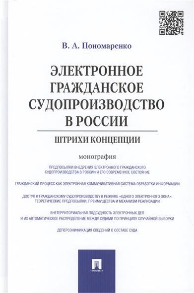 Электронное гражданское судопроизводство в России: штрихи концепции. Монография