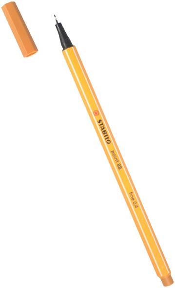 """Ручка капиллярная темная охра """"Рoint"""" 0,4мм, STABILO"""