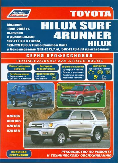 Toyota HiLux Surf. 4Runner. HiLux. Модели 1995-2002 гг. выпуска c дизельными 1KZ-TE (3,0 л. Turbo), 1KD-FTV (3,0 л. Turbo Common Rail) и бензиновыми 3RZ-FE (2,7 л.), 5VZ-FE (3,4 л.) двигателями  цена и фото