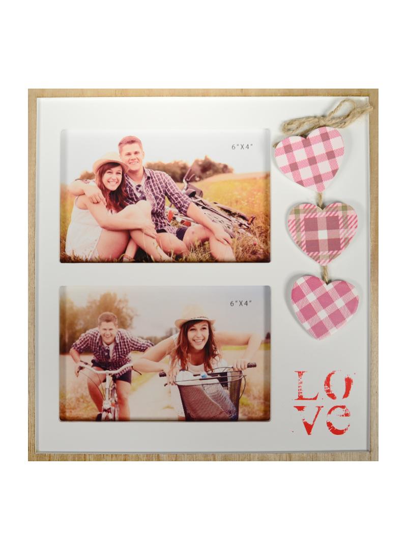 Фоторамка Любовь для 2-х фото (26х28см) (MDF) (138530)