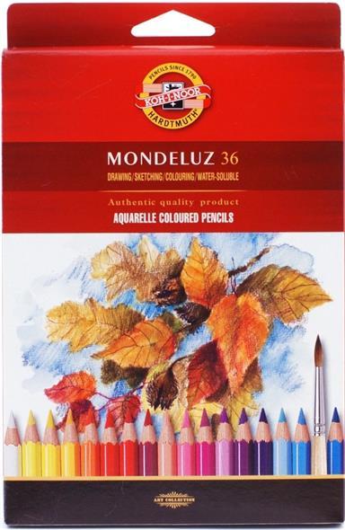 Карандаши акварельные Mondeluz, 36 цв., Koh-i-Noor