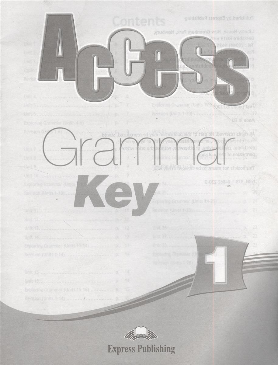 Access. Grammar Book Key 1