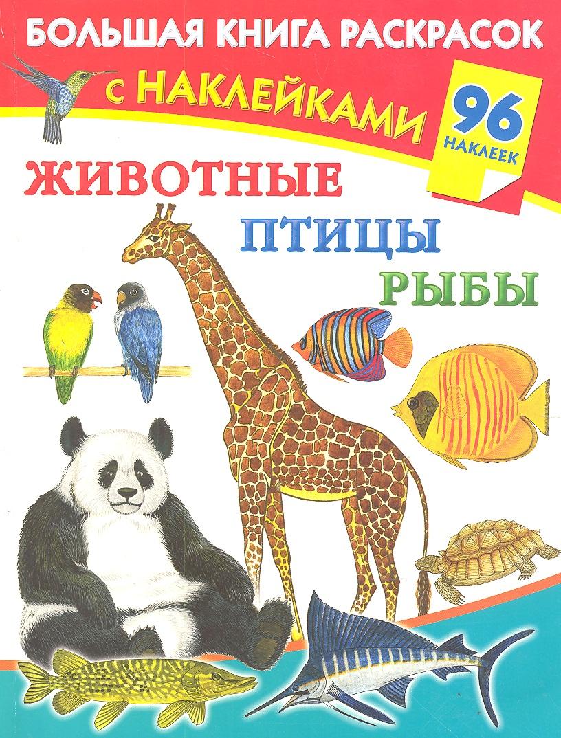 Дмитриева В. Животные, птицы, рыбы. Большая книга раскрасок с наклейками дмитриева в большая книга развивающих игр
