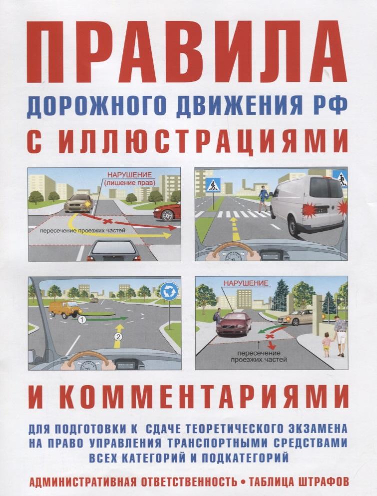 Русаков И. Правила дорожного движения с иллюстрациями и комментариями. Ответственность водителей (таблица штрафов и наказаний)
