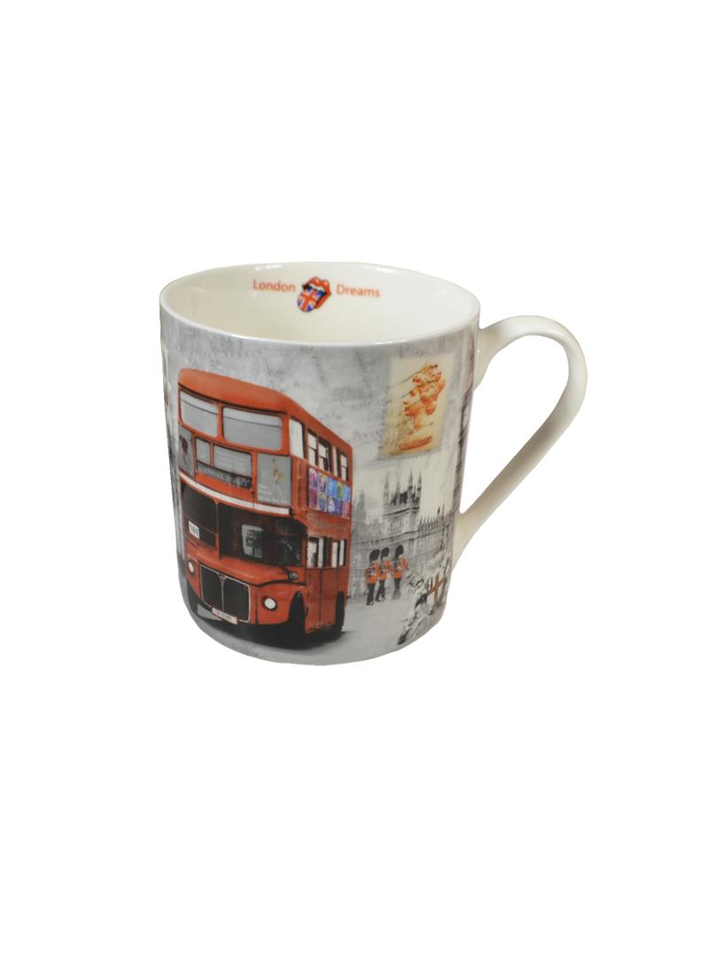 Кружка Лондонский перекресток (400 мл) (M-400 London 2) (фарфор) в подарочной упаковке GiftLand, Англия