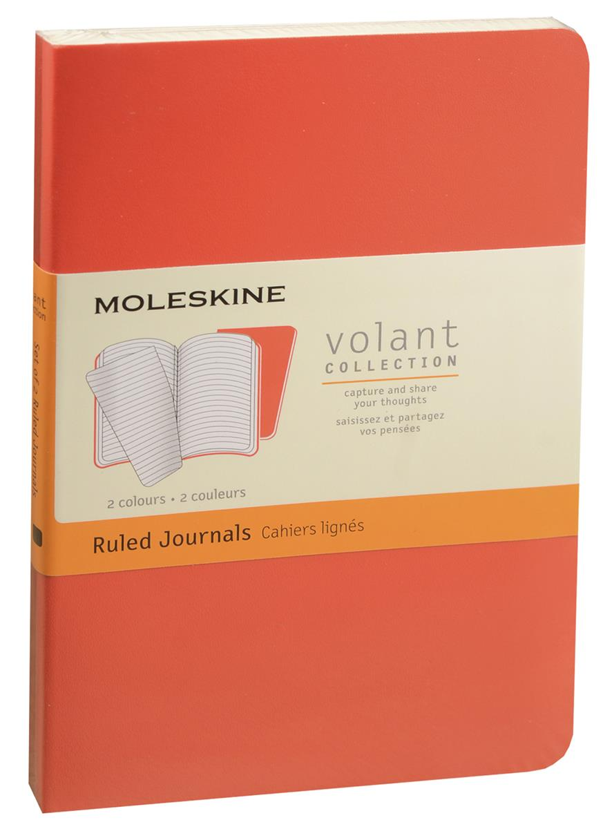 """Записная книжка А6 40л лин. """"Volant Pocket"""" (2шт.) бордовая/красная, мягкая обложка, Moleskine"""