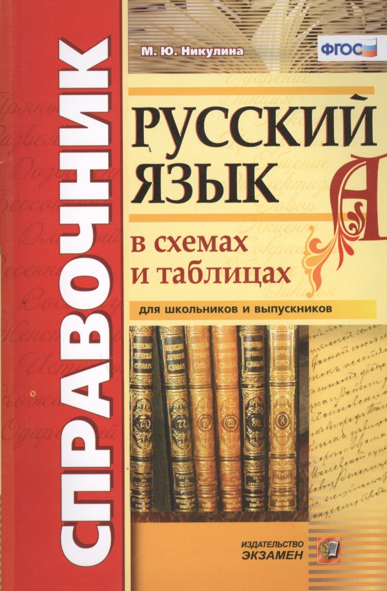 Никулина М.: Русский язык в схемах и таблица для школьников и выпускников.Справочник