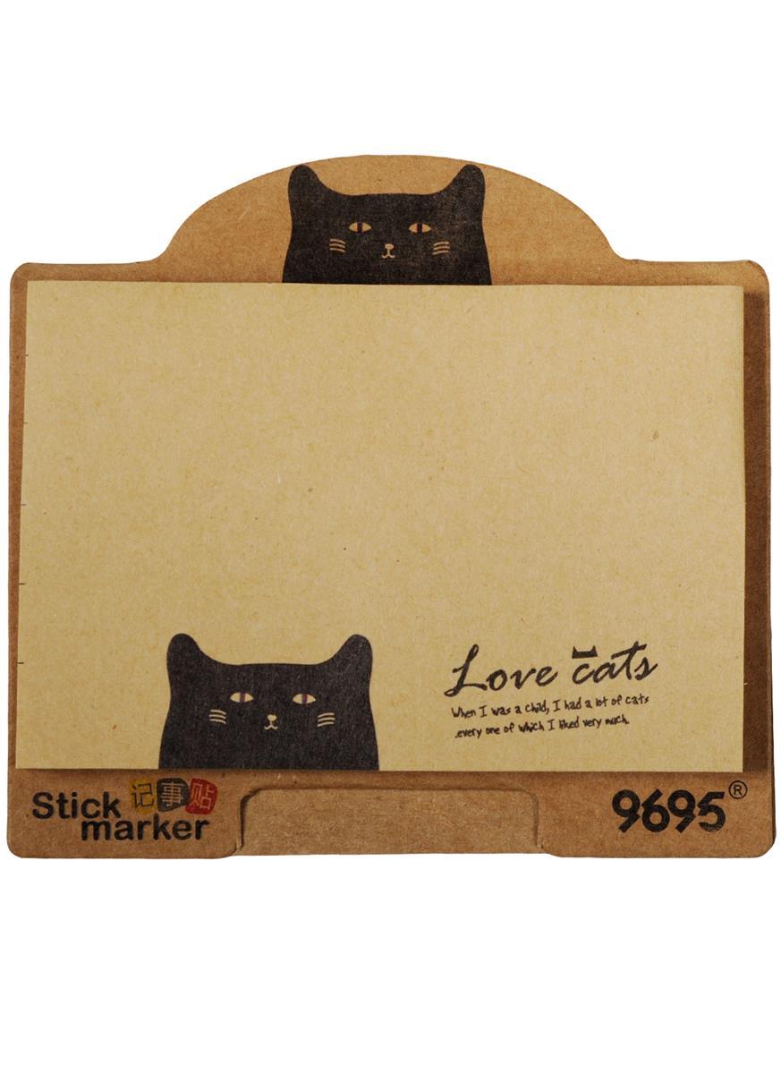 """Блок бумаги самоклеящийся """"Love cats"""" 50 листов"""