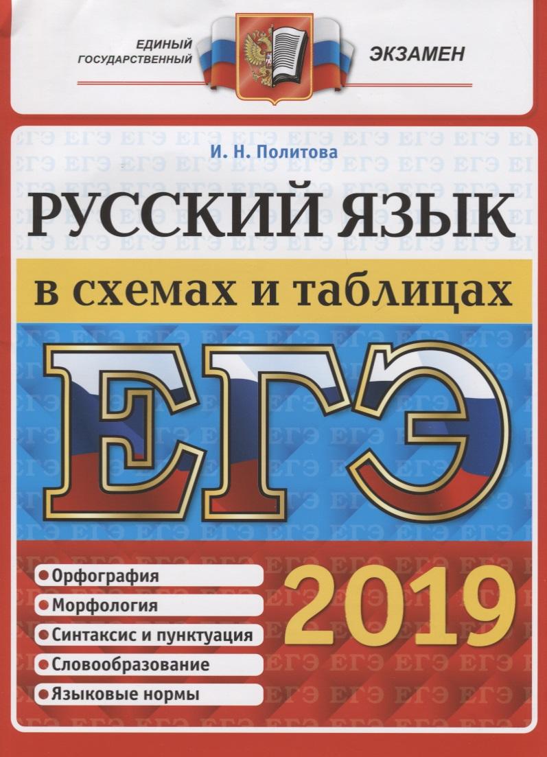 Политова И. ЕГЭ 2019. Русский язык в схемах и таблицах