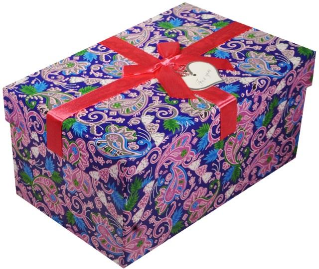 """Коробка подарочная """"Синие огурцы"""" 19*13*9,5см"""
