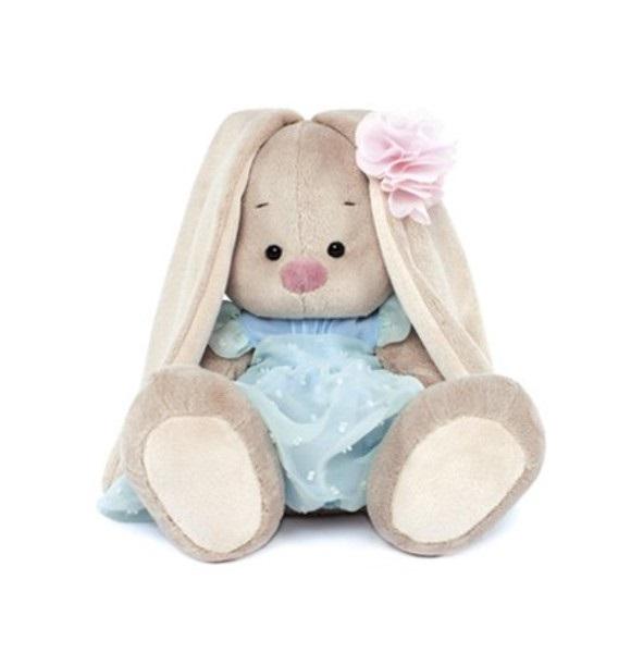 Мягкая игрушка Зайка Ми в голубом платье (18 см) (SidS-068)
