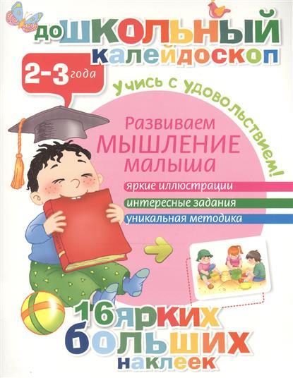 Развиваем мышление малыша. 2-3 года. Яркие иллюстрации. Интересные задания. Уникальная методика. 16 ярких больших наклеек. Учись с удовольствием!