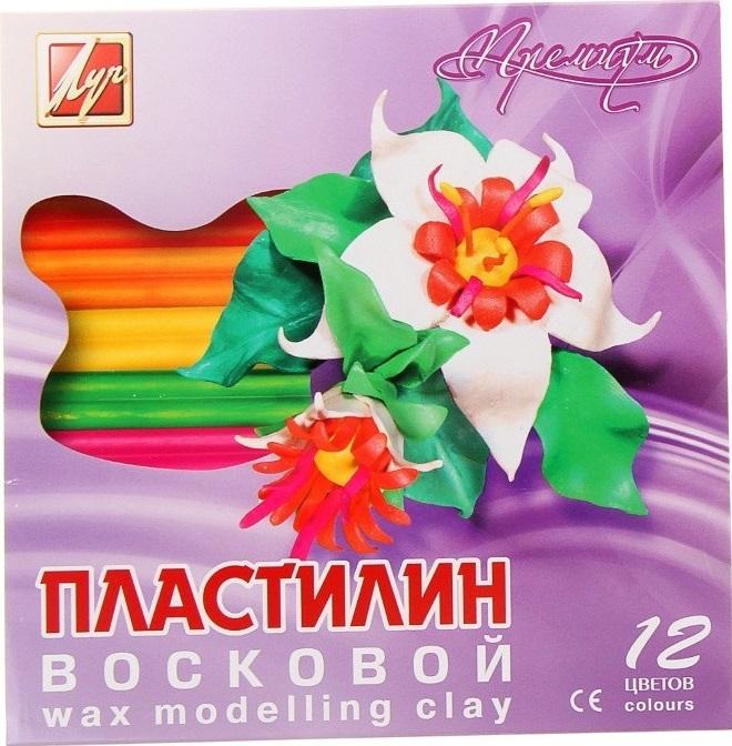 """Пластилин восковой """"Премиум"""", 12 цв."""