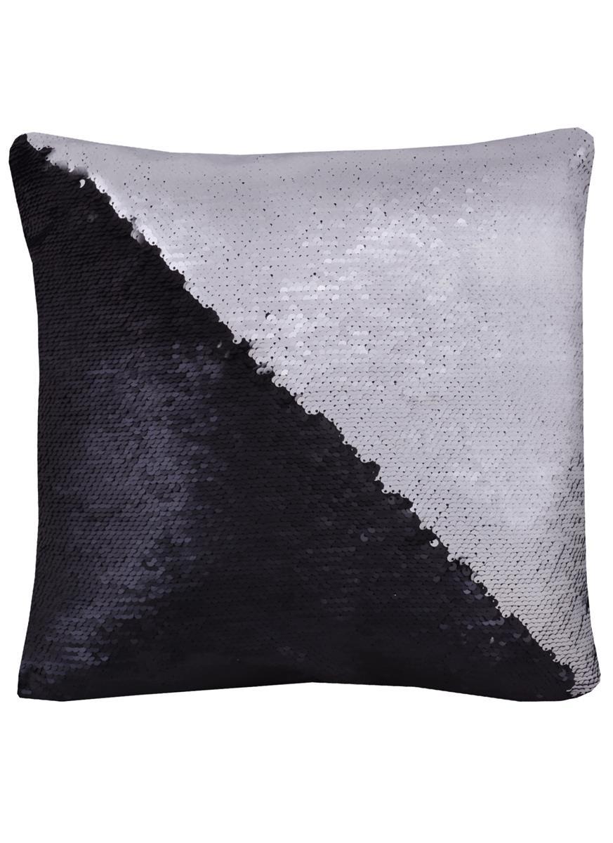 Подушка с пайетками черный металлик (37х37)