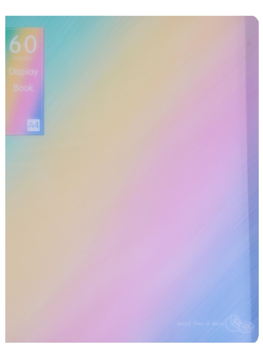 """Папка 60 файлов А4 """"Rainbow"""" пластик"""