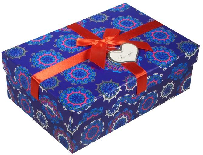 "Коробка подарочная ""Снежинки"", 12,5*19,5*6,5см"