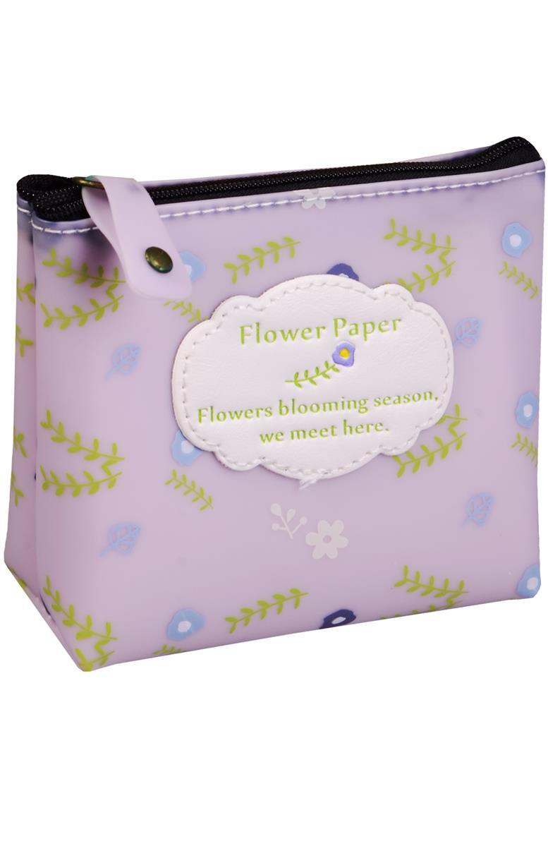 "Кошелек на молнии ""Flower paper"""
