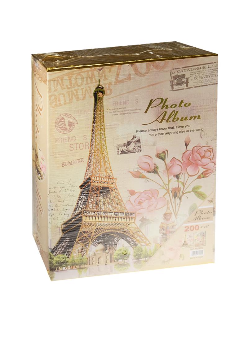 Фотоальбом на 200 фото Лондон Париж цветы (10х15)