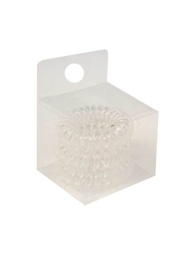 Резинка-браслет для волос прозрачная (3шт) (ПВХ бокс)