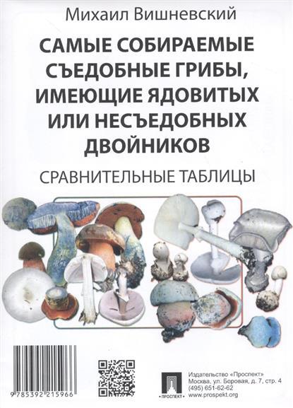 Самые собираемые съедобные грибы, имеющие ядовитых или несъедобных двойников: Сравнительные таблицы