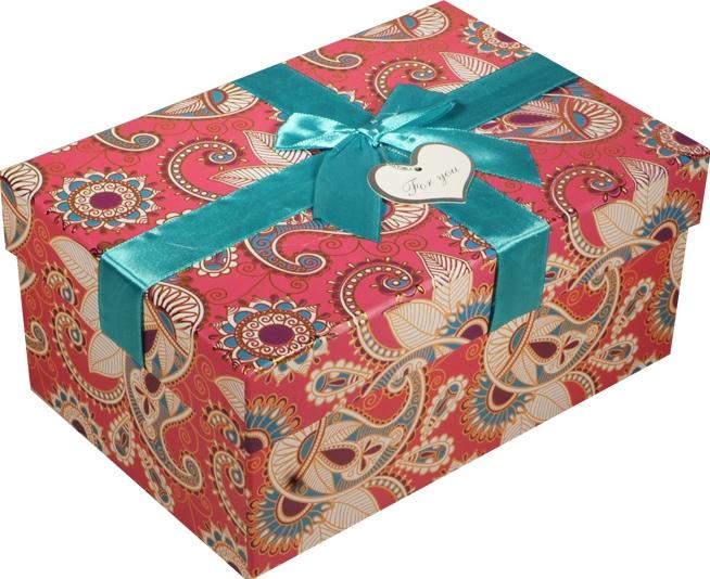 """Коробка подарочная """"Бирюзовые огурцы"""" 18*13*9см"""